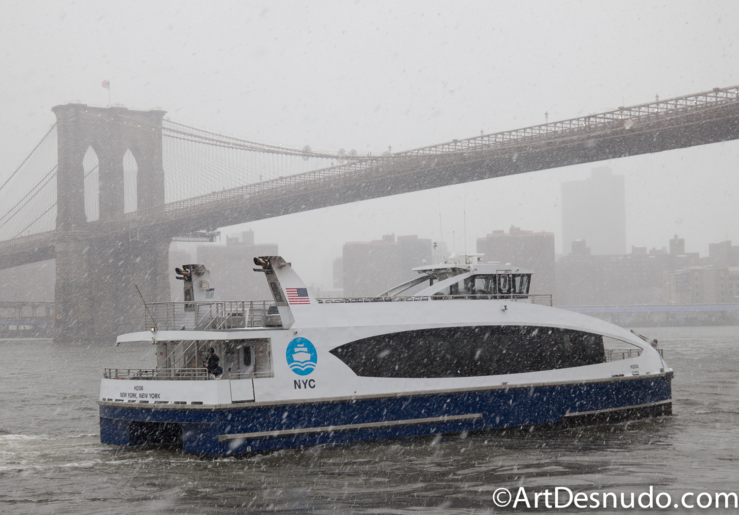 3/21/2018. Winter Storm Toby in New York City.
