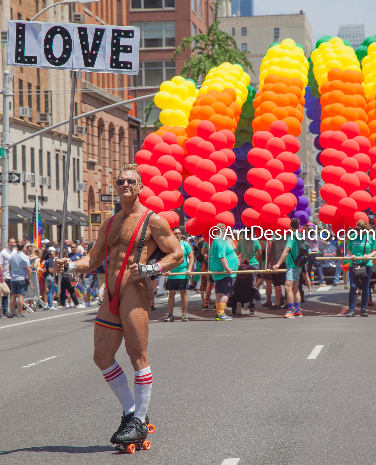 6/24/2018. New York City - The NYC Pride March celebrated 49 years. Photo by ArtDesnudo.com