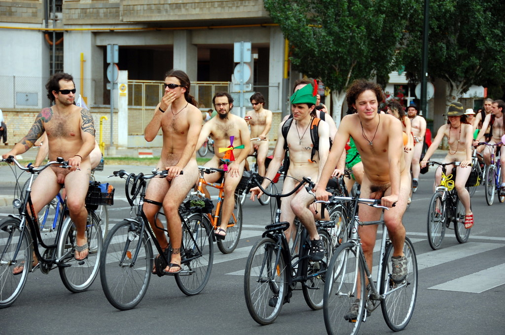 """Zaragoza and Vancouver hosted the first NBR. Pictured are participants in the 2009 WNBR in the Spanish city.""_Wikipedia.org"
