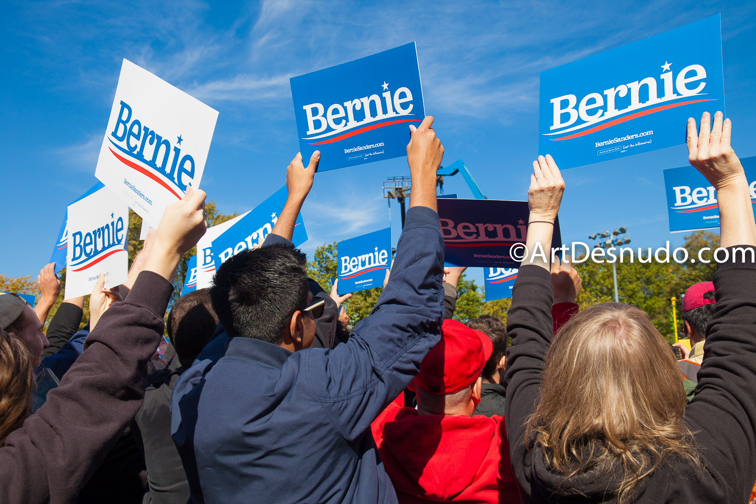 Saturday, October 19, 2019. Queens, New York City. Almost 26 thousand people attended this rally with Senator and presidential candidate Bernie Sanders.