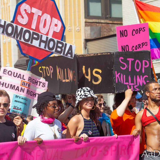 Sunday, June 27, 2021. Manhattan, New York City - The Queer Liberation March (QLM) was organized by Reclaim Pride Coalition.