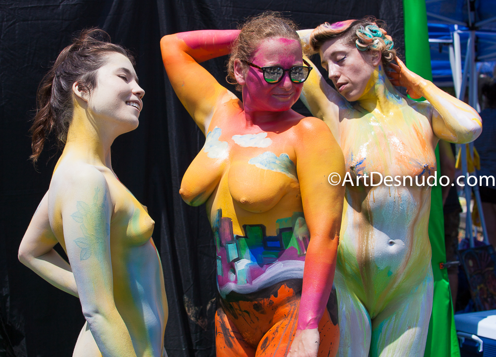 Saturday, July 20, 2019. New York City – Today was the Bodypainting Day 2019. The event was organized by Human Connection Arts. This was the 6th annual event and it was at the Maria Hernandez Park. The park is in the artistic mecca of Bushwick in Brooklyn, NYC. Photo by ArtDesnudo.com