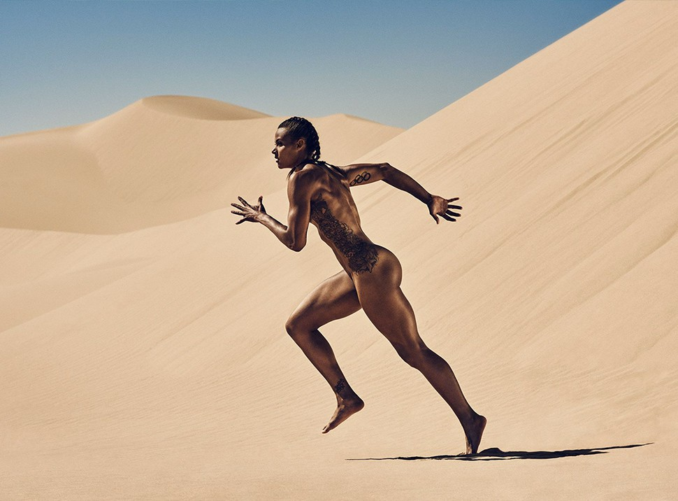 Athlete Chantae McMillian. (Photographed by Carlos Serrao for ESPN Body Issue 2015)