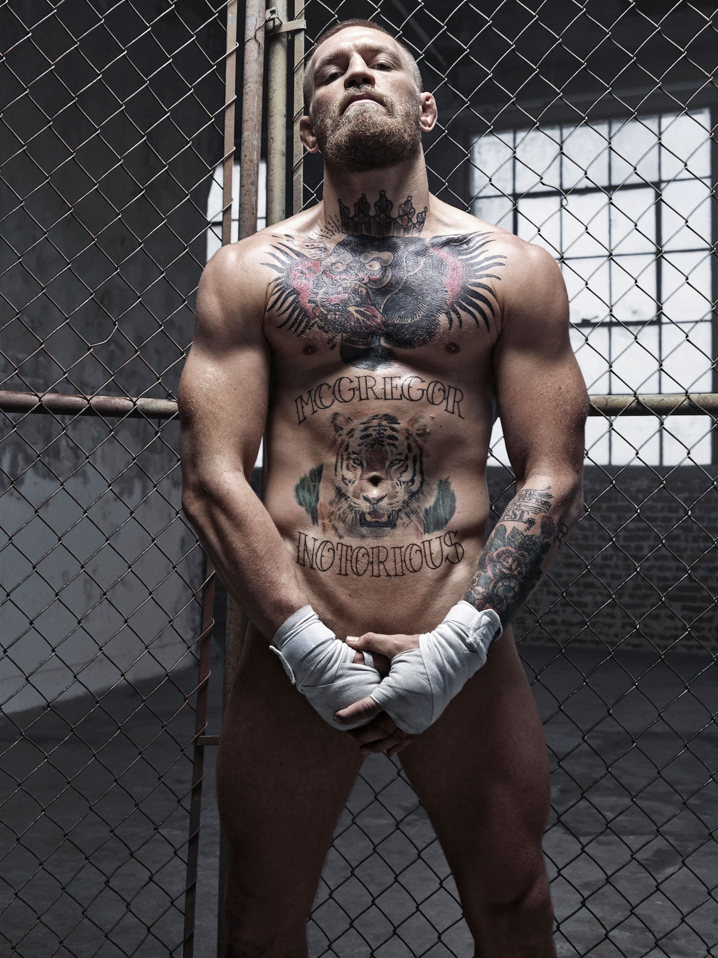 Athlete Conor McGregor. (Photographed by Mark Seliger for ESPN Body Issue 2016)