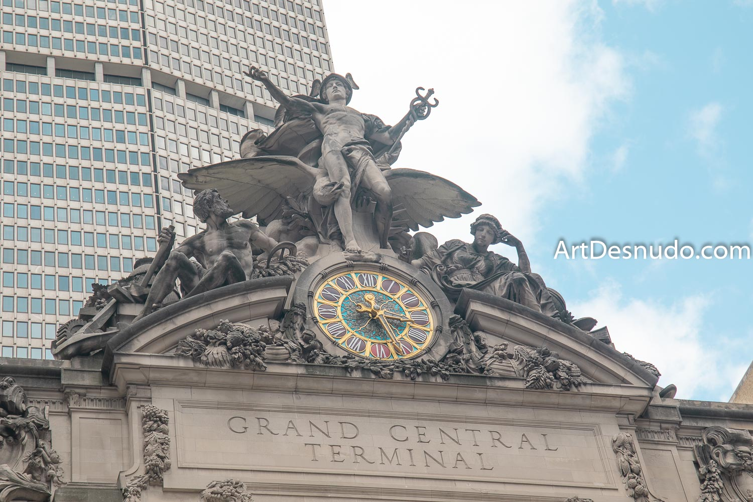 Saturday, September 7, 2019 - The Glory of Commerce sculpture. Grand Central Terminal. New York City.