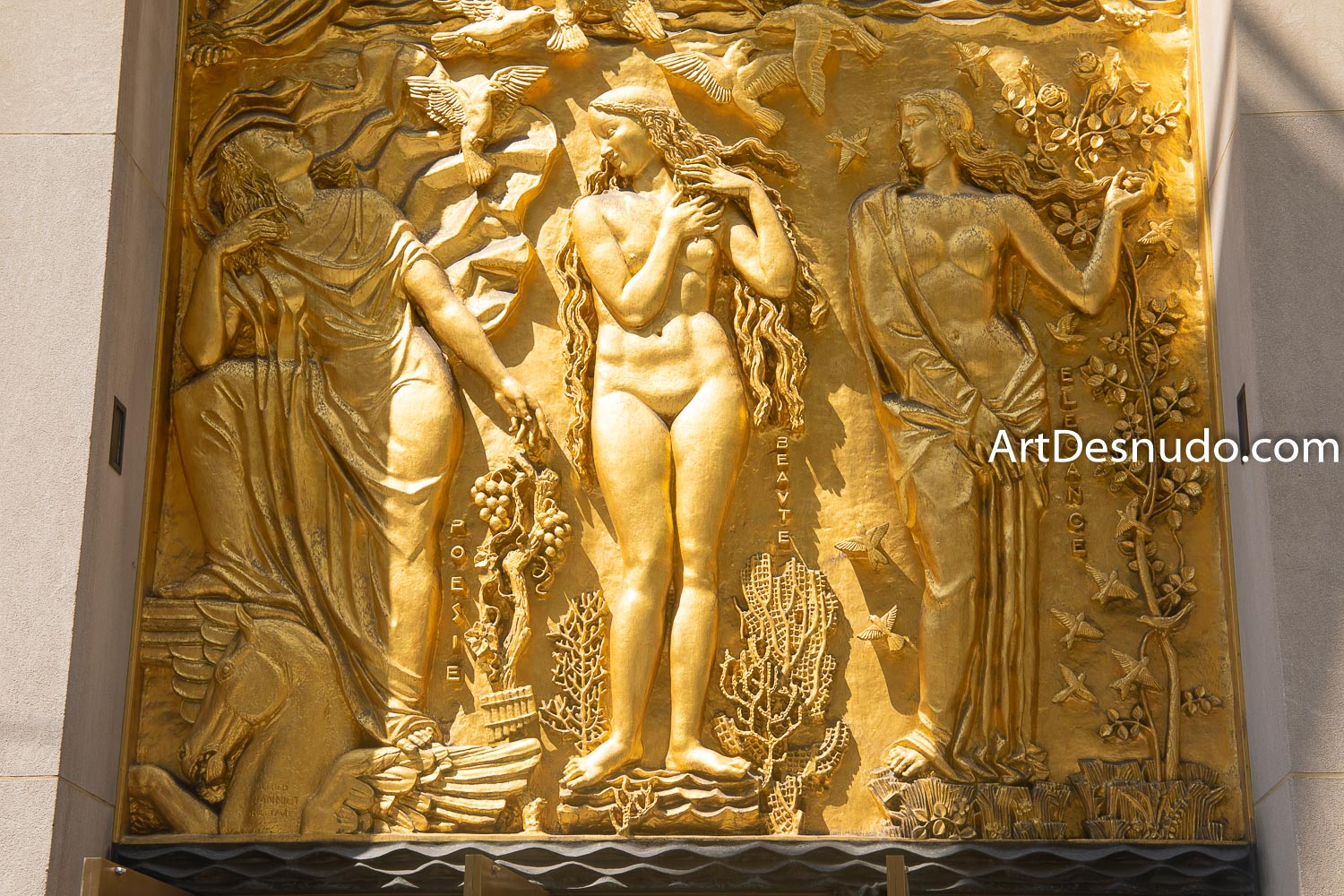 Wednesday, September 4, 2019 - Female nude art. La Maison Francaise. Rockefeller Center. Manhattan, New York City.