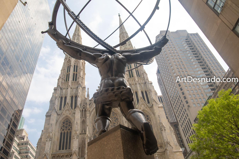 Wednesday, September 4, 2019 - Atlas. Rockefeller Center. Manhattan, New York City.