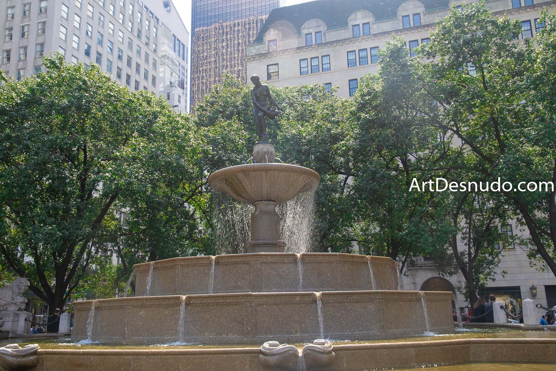 Pulitzer Fountain. Grand Army Plaza. Manhattan, New York City.