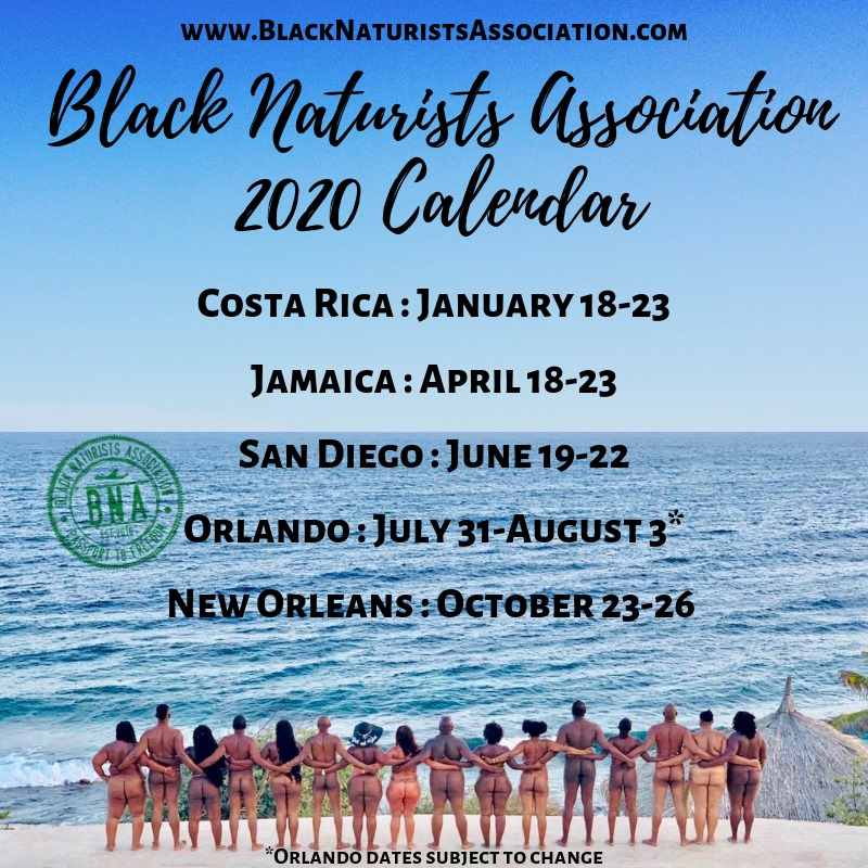 Black Naturists Association. 2020 calendar.