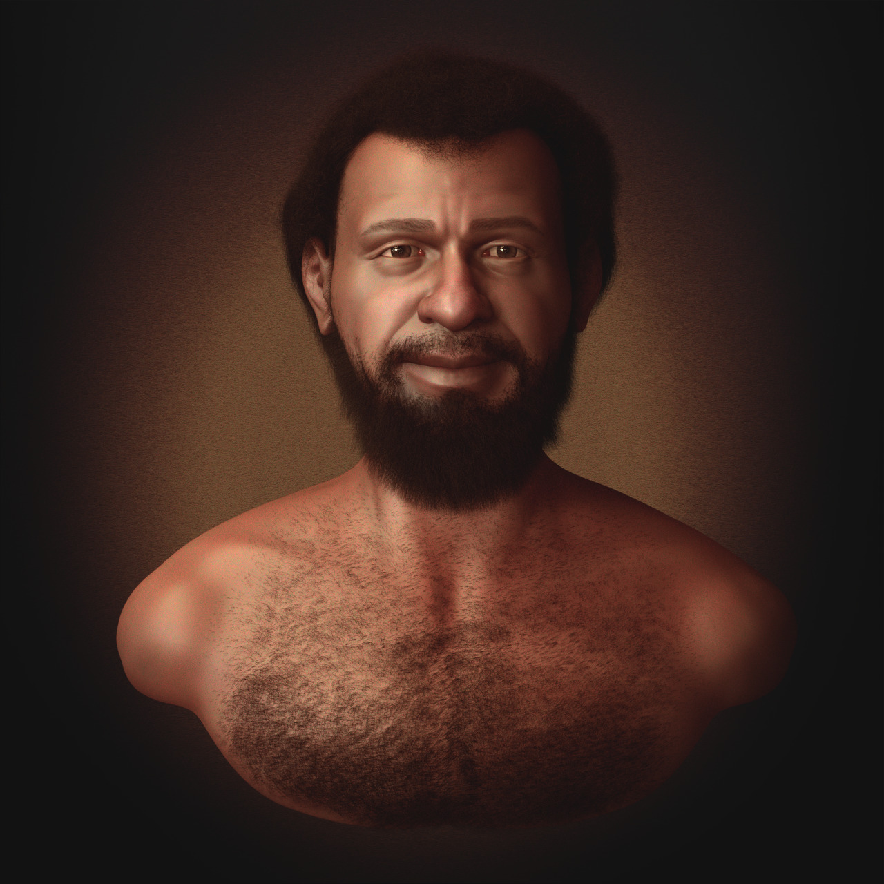 A facial reconstruction of an inhabitant of Galilea (Image by Cicero Moraes - Wikipedia.org).