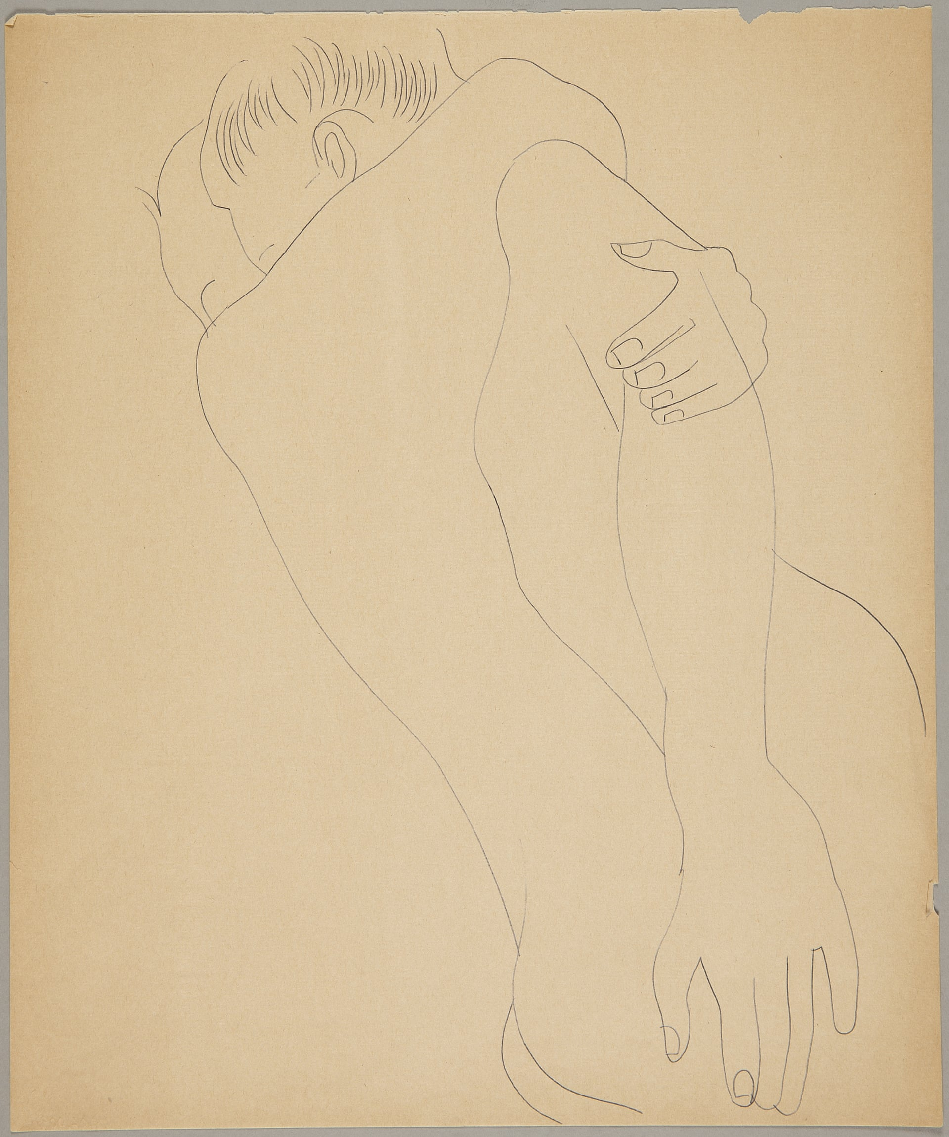 Male Couple c1955 Blue ballpoint on manila paper. Photograph: The Andy Warhol Foundation for the Visual Arts, Inc.